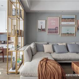 舒适北欧风客厅背景画设计图