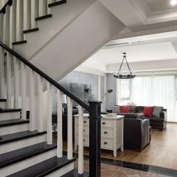 现代美式风楼梯设计图