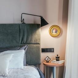 混搭复式卧室壁灯图片