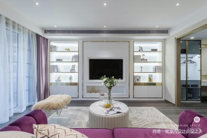 现代时尚风客厅背景墙设计