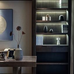 现代时尚风书房书柜设计