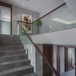 中式豪宅楼梯设计图