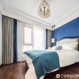 简洁中式风卧室实景图片