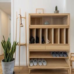 日式混搭风玄关鞋柜设计