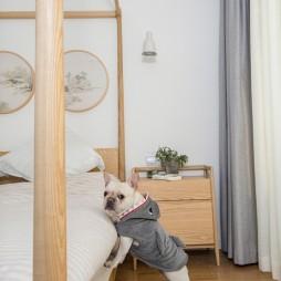 日式混搭风卧室床头柜设计