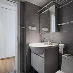 北欧极简浴室装修图