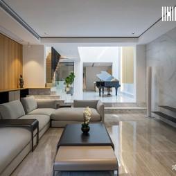 现代别墅—客厅效果图