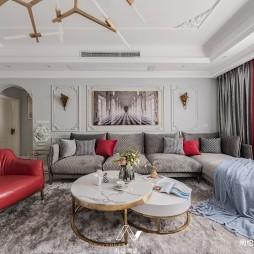 法式轻奢—客厅效果图