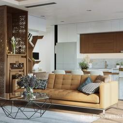 中式与简约风格的另类演绎—客厅图片