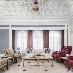绿城蓝庭法式古典别墅设计—客厅图片