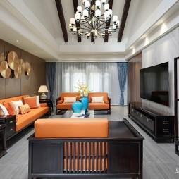 中式现代别墅豪宅—客厅图片