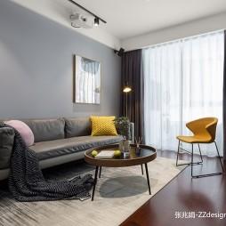 90平米现代简约—客厅图片