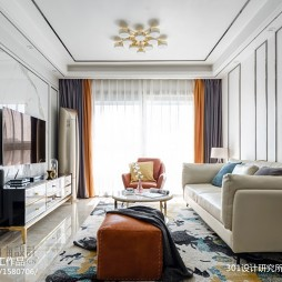 103平米现代简约—客厅图片