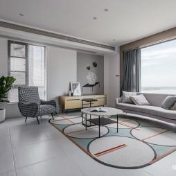 130平米现代简约:客厅图片