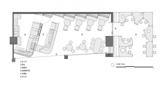 暂未填写餐饮空间69平米装修案例_效果图