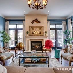 美式经典别墅豪宅—客厅图片