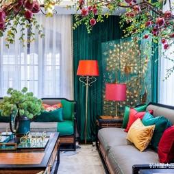 新中式风格别墅装修—客厅图片