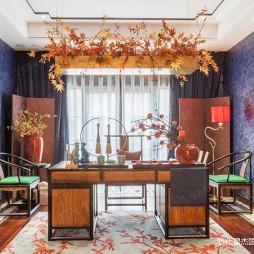 新中式风格别墅装修—书房图片