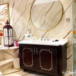 新中式风格别墅装修—卫生间图片