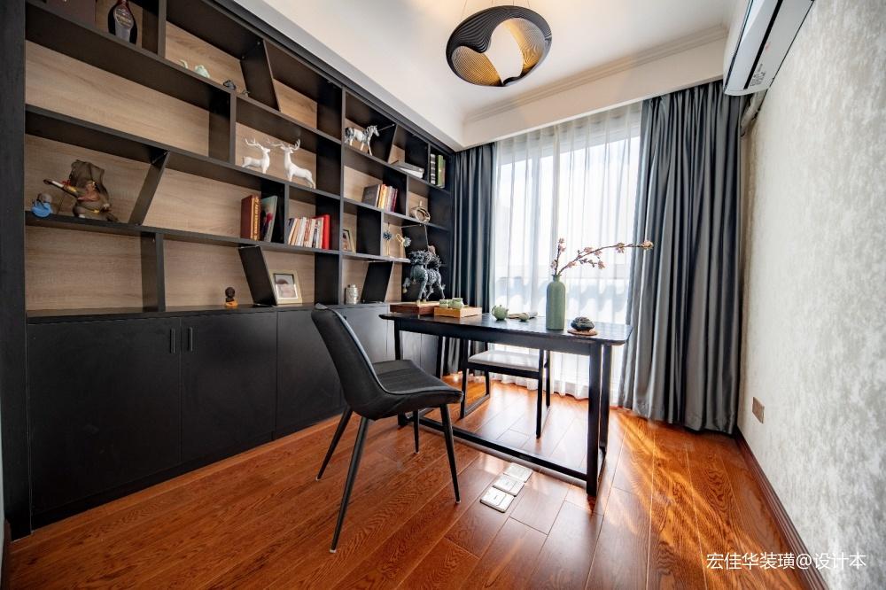 126平米现代简约—书房设计图