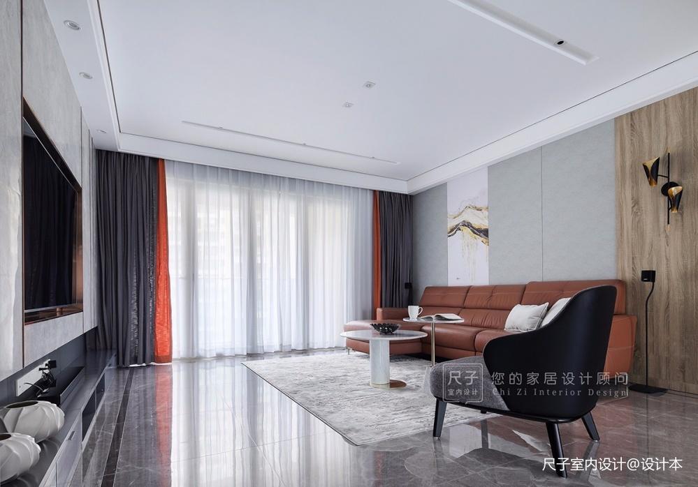 【尺子室内设计】日光倾城—客厅设计图