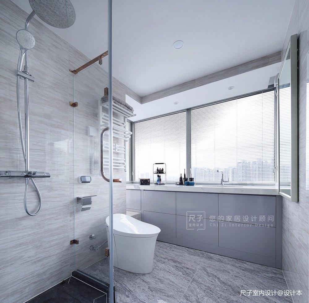 【尺子室内设计】日光倾城—卫生间设计图