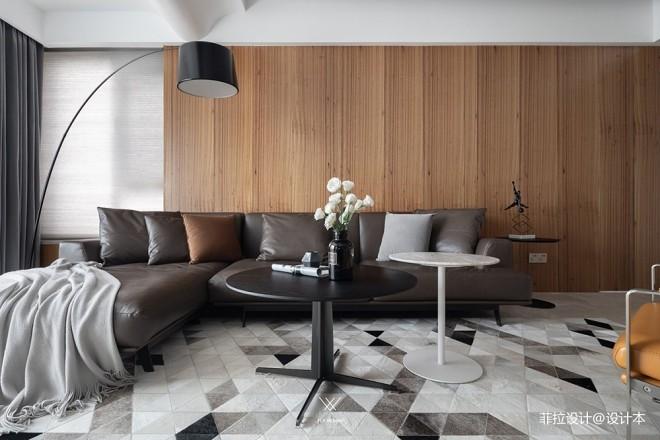 133平米现代简约—客厅图片
