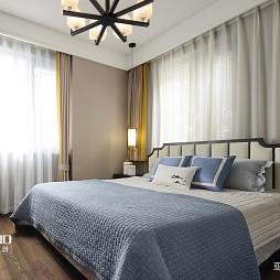 90平米中式现代—卧室图片