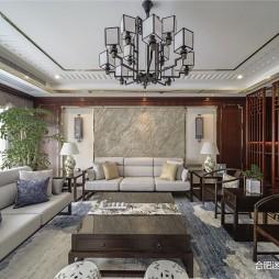 250㎡大平层设计,碧桂园儒雅轻奢大宅——客厅图片