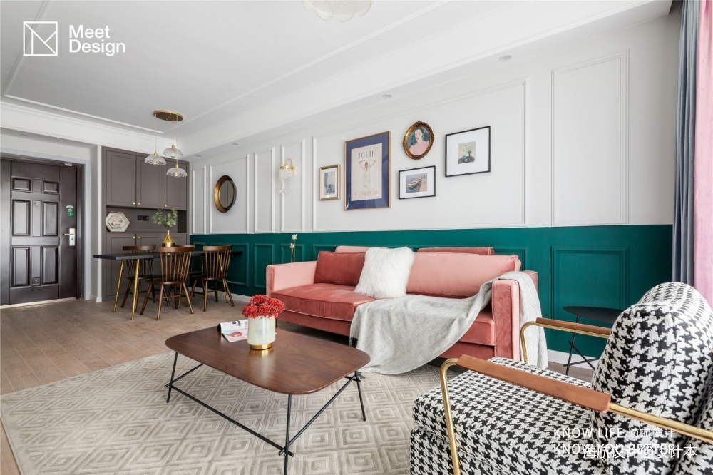 90 m² | 复古北欧——客餐厅图片