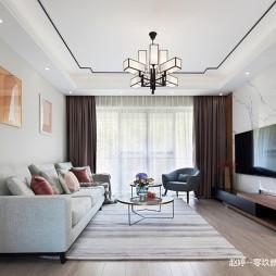 中式现代《素年锦时》——客厅图片