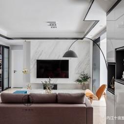 现代简约三居——客厅图片