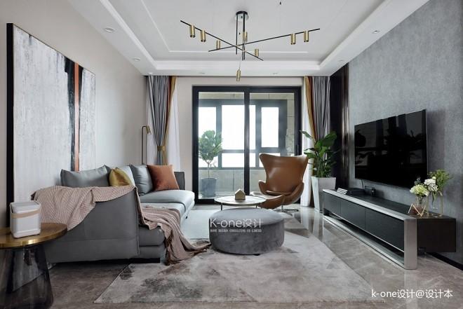 137平米现代简约——客厅图片