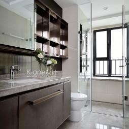 137平米现代简约——卫生间图片