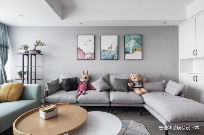 160平米复式——客厅图片