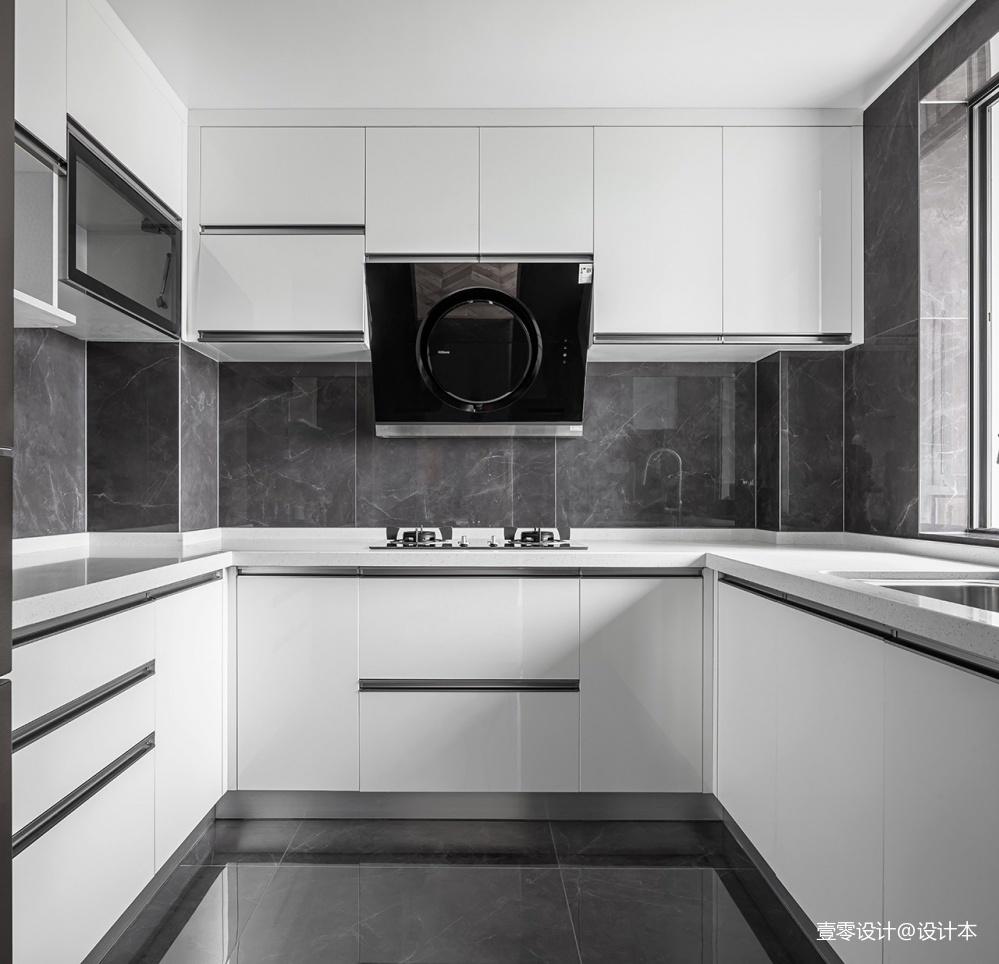 旧房改造-时髦混搭的撞色之家——厨房图片