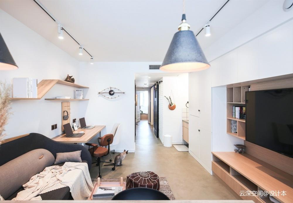 48平米日式风格——客厅图片