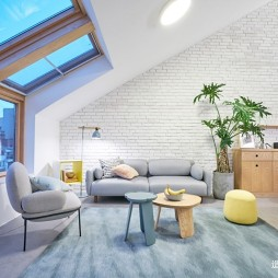 生活家 | 89㎡异形空间变身亲子游乐场——客厅图片