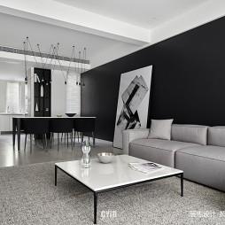 现代简约—黑与白——客餐厅图片