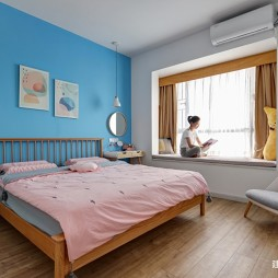 白色+原木配色的家——卧室图片