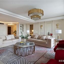 280大平层,优雅法式一点红——客厅图片