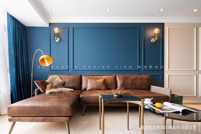蓝白撞色,这个重度乐高迷的家有点酷!