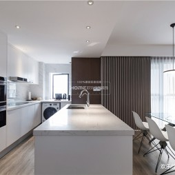 140平现代极简,餐厅厨房很漂亮——厨房图片