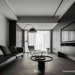 暗色倒影|玻璃隔开的动与静——客厅图片