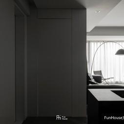 暗色倒影 玻璃隔开的动与静——玄关图片