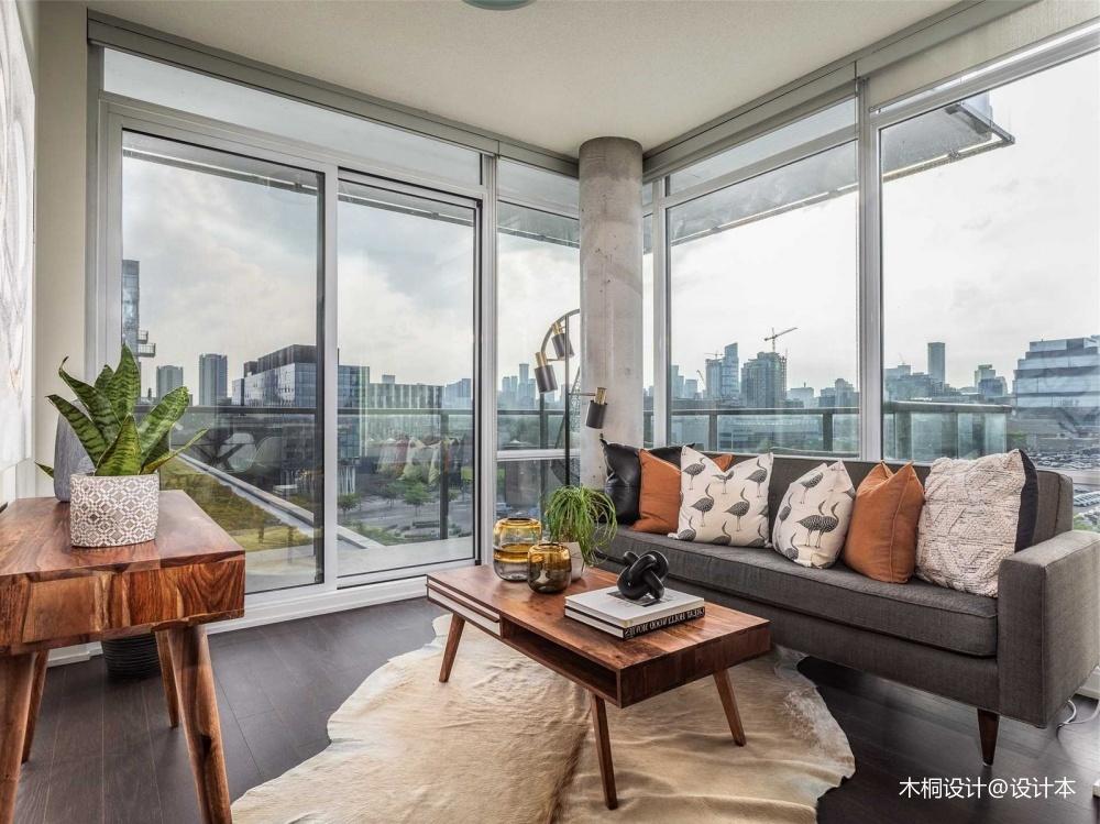 92㎡精致两居室大落地窗的轻奢体验——客厅图片