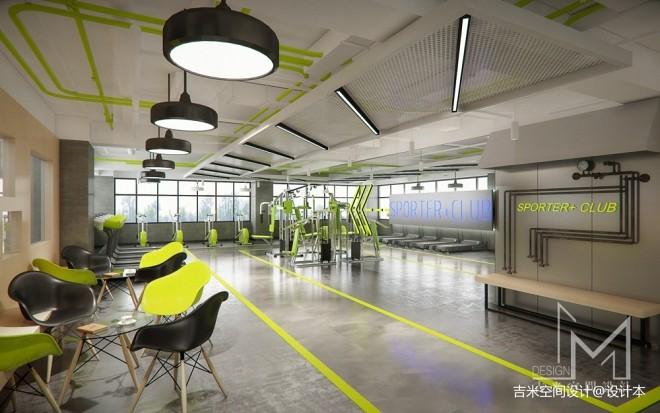 广州健身房_运动空间580平米装修案例_效果图 - 【吉米设计】健身房 - 设计本
