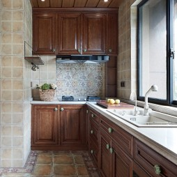 135美式田园——厨房图片