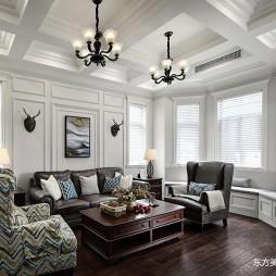 这个美式别墅温馨又温馨——客厅图片