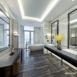 上海三甲港绿地铂瑞酒店空间设计——卫生间图片